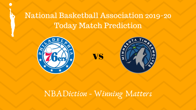 76ers vs timberwolves 31102019 - 76ers vs Timberwolves NBA Today Match Prediction - 30th Oct 2019
