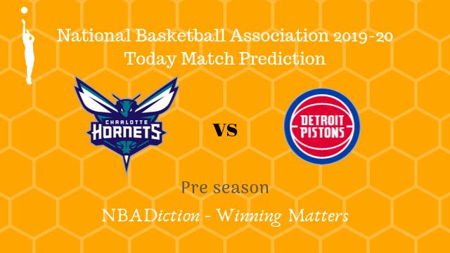 hornets vs pistons preseason - Hornets vs Pistons NBA Today Match Prediction - 16th Oct 2019