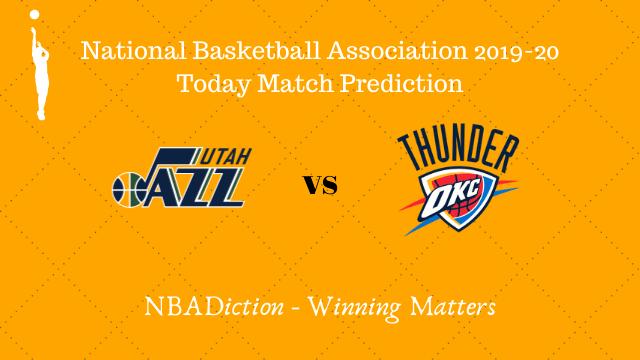 jazz vs thunder 24102019 - Jazz vs Thunder NBA Today Match Prediction - 24th Oct 2019