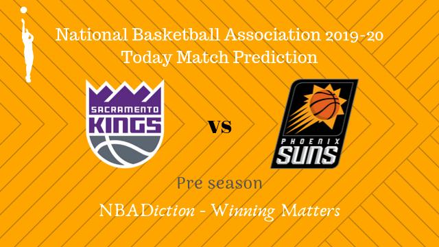 kings vs suns preseason - Kings vs Suns NBA Today Match Prediction - 11th Oct 2019