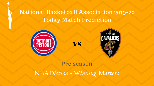 pistons vs cavaliers preseason - Pistons vs Cavaliers NBA Today Match Prediction - 11th Oct 2019