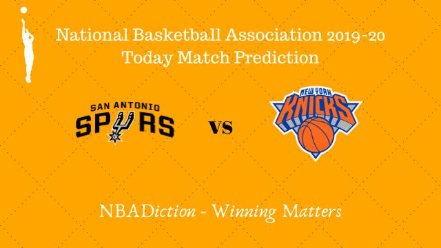 spurs vs knicks 24102019 - Spurs vs Knicks NBA Today Match Prediction - 24th Oct 2019