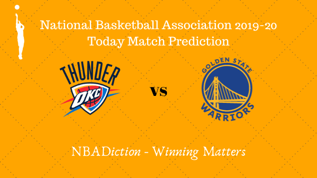 thunder vs warriors 28102019 - Thunder vs Warriors NBA Today Match Prediction - 27th Oct 2019