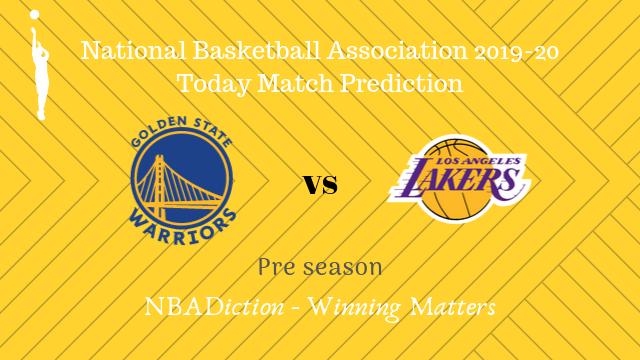 warriors vs lakers preseason - Warriors vs Lakers NBA Today Match Prediction - 6th Oct 2019
