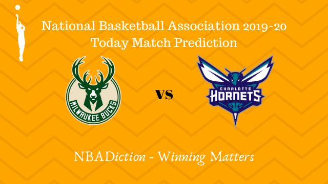 bucks vs hornets prediction 01122019 - Bucks vs Hornets NBA Today Match Prediction - 1st Dec 2019