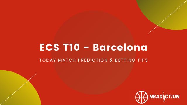 ecs t10 barcelona - BDS vs CTT Today Prediction, Bronze Final, ECS T10 Barcelona 2020